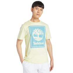 T-shirt À Logo Stack En Clair Clair, Taille M - Timberland - Modalova