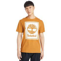 T-shirt À Logo Stack En Orange/ , Taille XL - Timberland - Modalova
