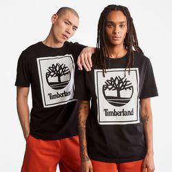 T-shirt À Logo Stack En /blanc , Taille L - Timberland - Modalova