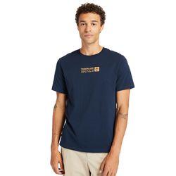 T-shirt À Mini Logo Brand Carrier En Marine Marine, Taille S - Timberland - Modalova