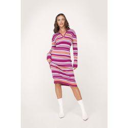 Knitted Stripe Heart Design Midi Dress - Nasty Gal - Modalova