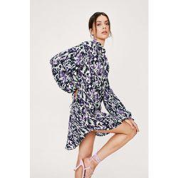 Abstract Print Keyhole Back Mini Shirt Dress - Nasty Gal - Modalova