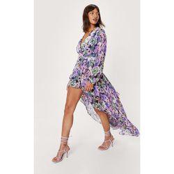 Floral Wrap Design Asymmetric Maxi Dress - Nasty Gal - Modalova