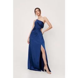 Satin Cut Out Side One Shoulder Maxi Dress - Nasty Gal - Modalova