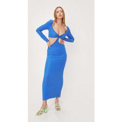 Long Sleeve Knot Front Cut Out Maxi Dress - Nasty Gal - Modalova