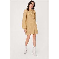 Petite Check Print Ruffle Shirt Dress - Nasty Gal - Modalova