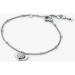 MK Bracelet cœur en argent sterling plaqué en métal précieux avec pierres pavées - Michael Kors - Modalova
