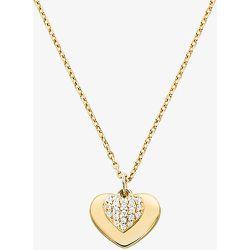MK Collier cœur en argent sterling plaqué en métal précieux avec pierres pavées - Michael Kors - Modalova