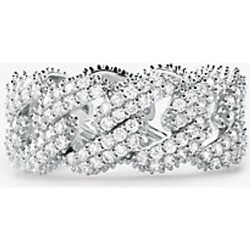 MK Bague à maillons gourmette en argent sterling plaqué en métal précieux avec pierres pavées - Michael Kors - Modalova