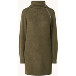Mini-robe pull Maglia en laine mélangée avec détail zippé - Liu Jo - Modalova