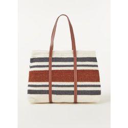Shopper Bosco en laine mélangée avec détails en cuir - Mango - Modalova