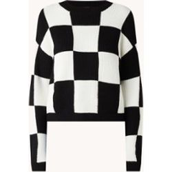 Pull en grosse maille Chess avec motif à carreaux - Mango - Modalova