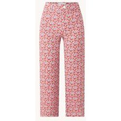 Pantalon court coupe fuselée taille haute à imprimé floral - Mango - Modalova