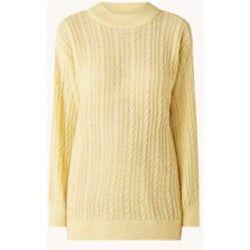 Pull en maille torsadée surdimensionnée Staring en laine mélangée - Mango - Modalova