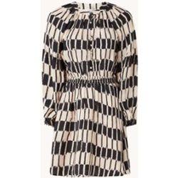 Robe chemise mini Molly à imprimé graphique et manches bouffantes - Mango - Modalova