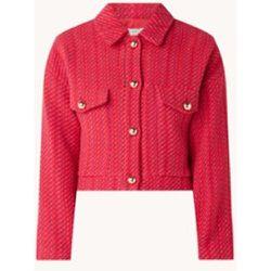 Veste courte Mary en tweed avec poches à rabat - Mango - Modalova