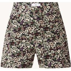 Pantalon court coupe droite taille haute avec imprimé floral - Mango - Modalova