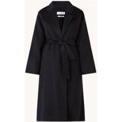 Manteau en laine mélangée avec ceinture à nouer - Mango - Modalova