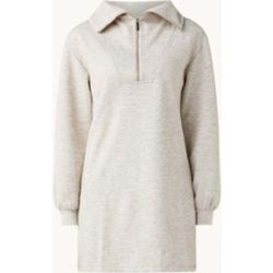 Robe mini pull maxi avec demi-zip et motif mêlé - Mango - Modalova
