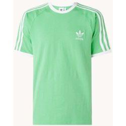 T-shirt à 3 bandes avec bordure logo - Adidas - Modalova