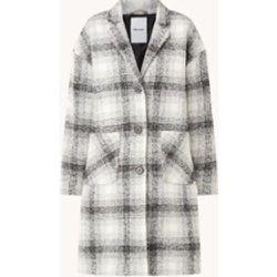 Manteau en mélange d'alpaga à carreaux - Penn & Ink - Modalova