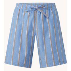 Pantalon de pyjama Aegean-I avec cordon de serrage et imprimé à rayures - Mango - Modalova
