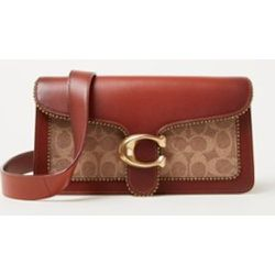 Sac porté épaule Tabby avec détails en cuir et bordure perles - Coach - Modalova