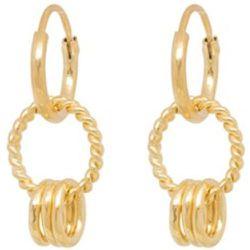 Boucles d'oreilles corde plaqué - Anna + Nina - Modalova
