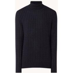 Pull à col roulé en grosse maille de laine mélangée - Strellson - Modalova
