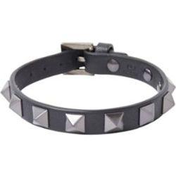 Valentino Bracelet Rockstud en cuir - Valentino - Modalova