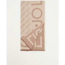 Écharpe avec logo imprimé 140 x 140 cm - Liu Jo - Modalova