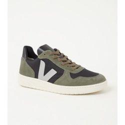 Sneaker V-10 avec détails en daim - Veja - Modalova