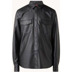 Chemisier Elpaz en simili cuir avec poches à rabat - Hugo Boss - Modalova