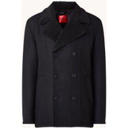 Manteau Balno à double boutonnage en laine mélangée avec doublure en teddy - Hugo Boss - Modalova