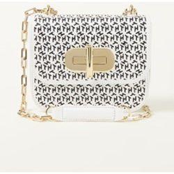 Mini sac à bandoulière en cuir avec imprimé logo - Tommy Hilfiger - Modalova