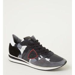 Sneaker Tropez X en cuir de veau avec détails en daim - Philippe Model - Modalova