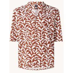 Chemise coupe classique en lin mélangé avec logo - Hugo Boss - Modalova