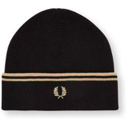 Bonnet à double bout en laine mérinos mélangée avec logo brodé - Fred Perry - Modalova