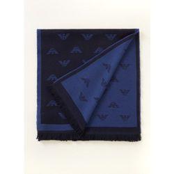 Écharpe en laine avec logo jacquard - Emporio Armani - Modalova