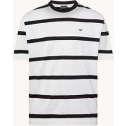 T-shirt à rayures et logo - Emporio Armani - Modalova