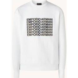 Sweat avec bordure logo - Emporio Armani - Modalova