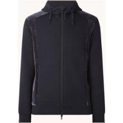 Veste en molleton avec détails en velours et poches zippées - Emporio Armani - Modalova