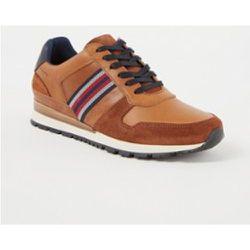 Sneaker Truro en cuir avec détails en daim - Dune London - Modalova