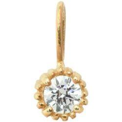 Pendentif pierre de naissance avril en or 14 carats avec diamant - Anna + Nina - Modalova