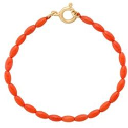Bracelet Yeee Haw Coral plaqué or - Anna + Nina - Modalova