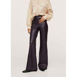 Pantalon wideleg similicuir - Mango - Modalova
