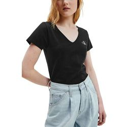 Tee shirt manches courtes petit logo MONOGRAM SLIM VNECK - Calvin Klein - Modalova