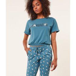 Haut de pyjama T-shirt manches courtes 'namaste' YAMASTE - ETAM - Modalova