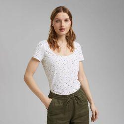 T-shirt col rond manches courtes à motifs - Esprit - Modalova