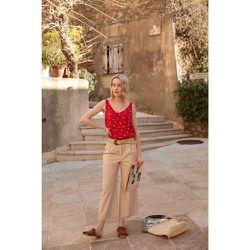 Pantalon coton nylon à pinces - SOI PARIS - Modalova